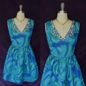 Lilly Pulitzer Kaya Dress jeweled fit flare